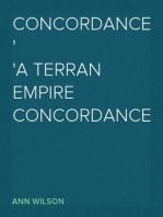 Concordance: A Terran Empire concordance